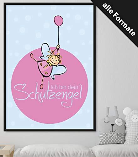 Papierschmiede Kinderposter | DIN A4 | Wanddeko fürs Kinderzimmer | Jungen Mädchen | Bilder für den Bilderrahmen | Ich Bin Dein Schutzengel