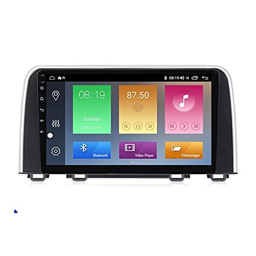 ADMLZQQ Android Doble DIN Radio De Coche Navegacion GPS para Honda CRV 2016-2018 Coche Reproductor MP5 Radio FM Enlace Espejo Control del Volante con Cámara Trasera,M300 3+32g