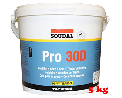Soudal Holzleim Pro 30D, Dispersionsklebstoff, Wasserfest 5kg