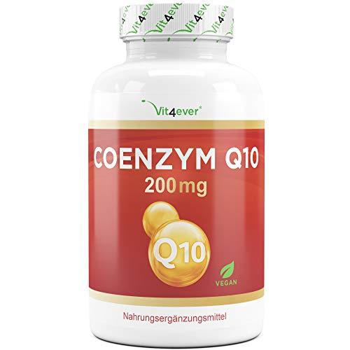 Coenzym Q10 200 mg je Kapsel - 120 vegane Kapseln - Premium Q10 aus pflanzlicher Fermentation + Piperin - 100% Ubichinon - Laborgeprüft - Vegan - Hochdosiert