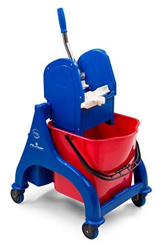 Carrello lavapavimenti pulizie Filmop Orion 7962A secchio lt.25 con strizzatore professionale e ruote cm.53x42x90