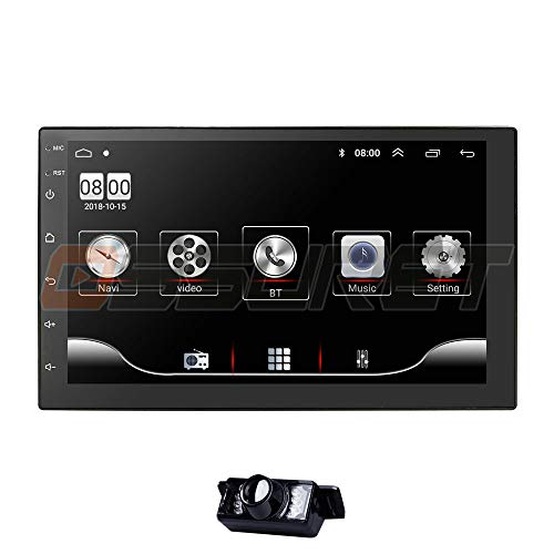 6.2 Inch Car Audio Stereo Double Din in-Dash Navigation DVD Player Supports GPS Radio Steering Wheel Control Bluetooth SD RDS AUX Mirror-Link Free Backup Camera + Map Card