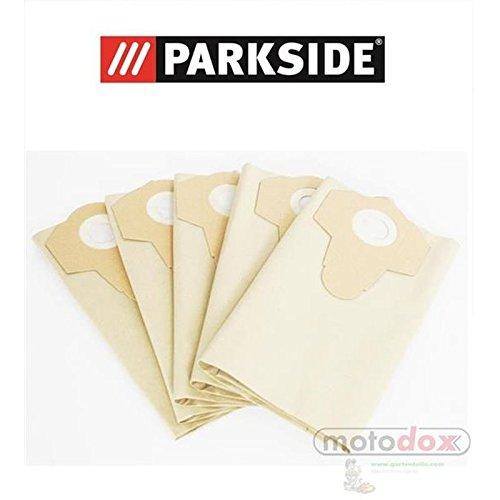 5 Staubsaugerbeutel / Staubbeutel PARKSIDE LIDL Nass Trocken Sauger PNTS 1400, 1500 A1, B1, B2, B3, C1, C3, D1, E2, C4, F2