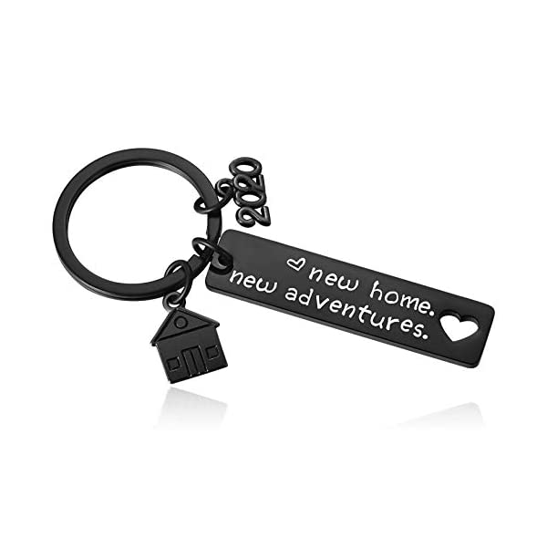 2020 New Home Keychain Housewarming Gifts for Couples First Time Homeowner New House Key Chain Moving Away Gift