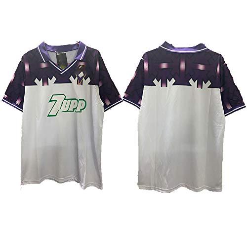 POAK Batty Retro Uniforme de fútbol 1992-93 Temporada Fans Camiseta de fútbol Ropa Deportiva de Entrenamiento de fútbol para Hombre, Bien Lavado Conmemorar Personalizar Camiseta Customize-L