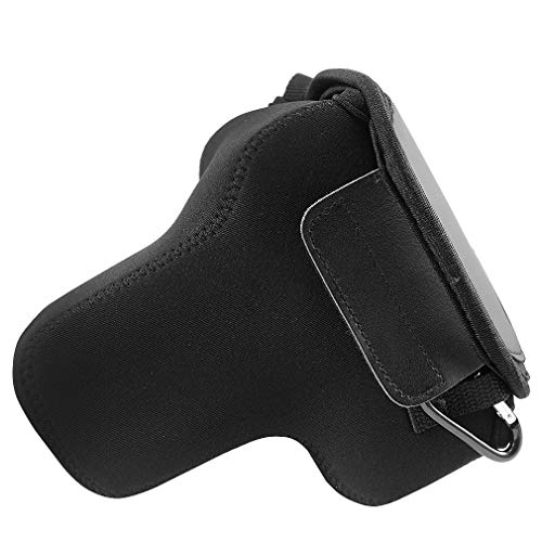 First2savvv Neoprene Camera Case Bag for Nikon D5600 D3500 D3400 D5500 D3300 D5300 D5200 D5100 D5000 D3200 D90 D80 D3100 D3000 with 18-55mm Lens + Cleaning cloth QSL-SLRS-N-A01