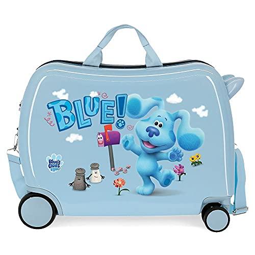 Blue´s Clues and You Maleta Infantil Azul 50x38x20 cms Rígida ABS Cierre de combinación Lateral 34 1,8 kgs 4 Ruedas Equipaje de Mano
