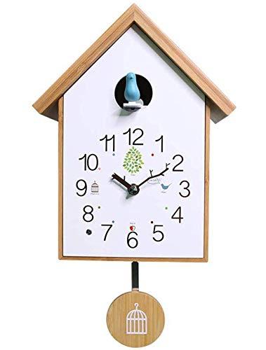 HANGESS Reloj De Cuco Relojes de Pared–. para Salón, creativos Decorativa Moderna Reloj, Dormitorio, Salón, Cocina, Oficina, habitación de los Niños ( con Colgante )