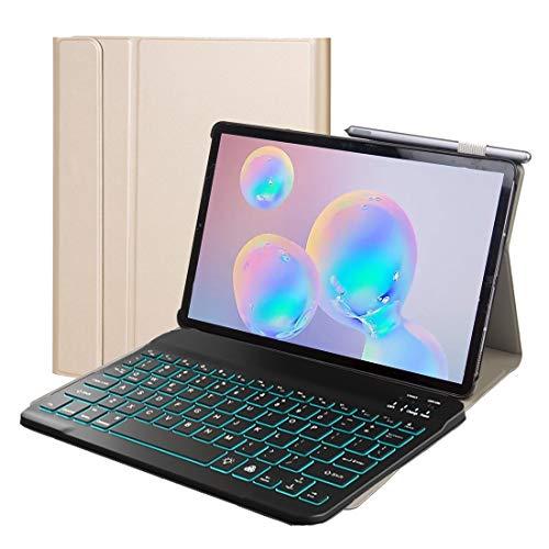 LLLi Tablet PC Teclado Bluetooth DYM10P for Lenovo inteligente Tab Plus M10 HPD TBX606F 10,3 pulgadas 2 en 1 extraíble magnética ABS Teclado Bluetooth caja de cuero protector con el soporte y el sueño