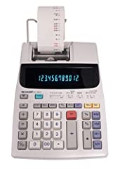 Large 12 Digit Blue Fluorescent Display 2.5 LPS, 2 Color Ink Printer One-Touch Change Calculation Function Cost/Sell/Margin keys, Grand Total and Average Uses replaceable Victor ink roller IR40T