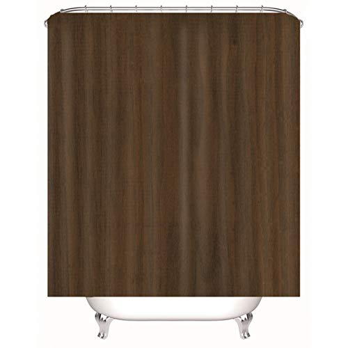 Aartoil Stoff Duschvorhang, Polyester Solide Duschvorhang für Badezimmer | Dunkelbrauner Duschvorhang Langer Duschvorhang 66x80 Zoll / 165 x 200 cm DuschvorhangAnti-Bakteriell, Schimmelresistent