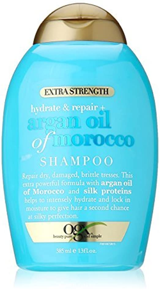ぼろ反対したレモンOGX Hydrate Plus Repair Argan Oil of Morocco Extra Strength Shampoo, 13 Ounce [並行輸入品]