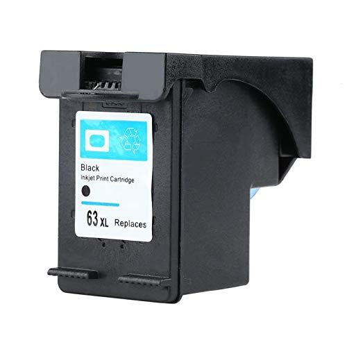 QiKun-Home Cartucho de Tinta Compatible Profesional Negro Reemplazo de Cartucho de Tinta Compatible con Impresora para HP63XLBK Negro