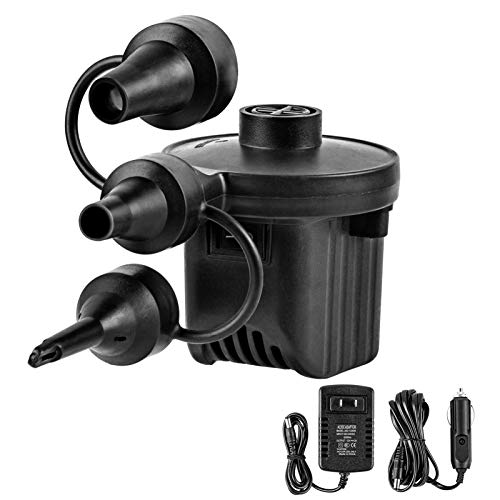 Electric Air Pump Inflator For Inflatables Camping Bed Pool 240v//12v Car BO