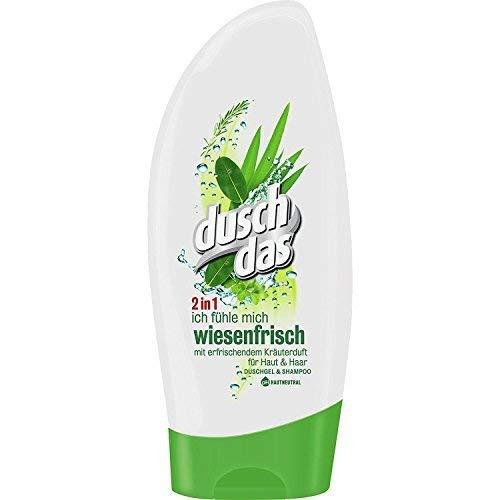 Dusch Das Ich fühle mich Wiesenfrisch, Duschgel, Kräuterduft 4er Pack (4x 250ml)