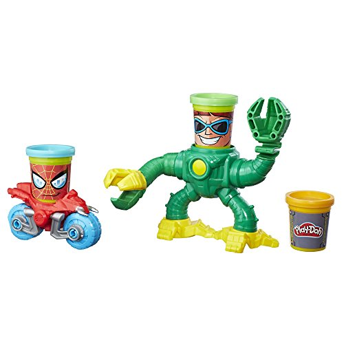 Hasbro Play-Doh Marvel Spider-Man vs. Doc Ock Pasta para modelar 1pieza(s) - Compuestos para cerámica y modelaje (Pasta para modelar,, Niños, Cubo de plástico, 3 año(s), 1 Pieza(s))