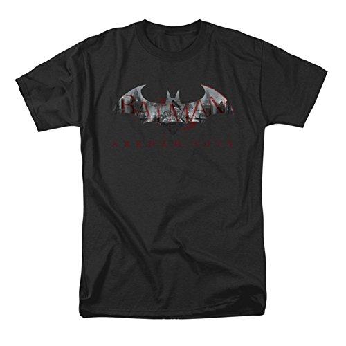 Batman Arkham City Bat Llenar Mens Camisa Manga Corta Negra (XXX-Grande)