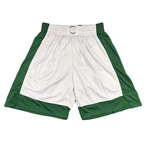 MRYUK Pantalones Cortos de Baloncesto para Hombres, Boston Celtics 0# Jayson Tatum Deportes Pantalones Cortos, Pantalones Cortos de Malla Bordados, Fibra de poliéster, se M