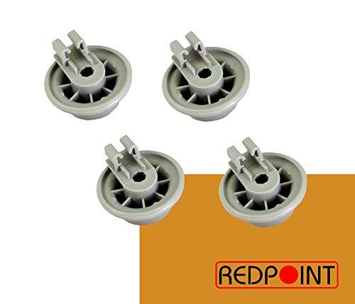 REDPOINT Kit de 4 ruedas cesta lavavajillas adaptable Bosch 00611475