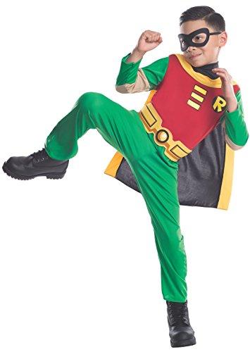 Rubbies - Disfraz de Robin para niño, talla 5-6 años (882126M)