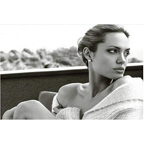 Póster de arte New Angelina Jolie Hot Movie Actress Model Star Light Canvas Wall-50x70cm Sin marco