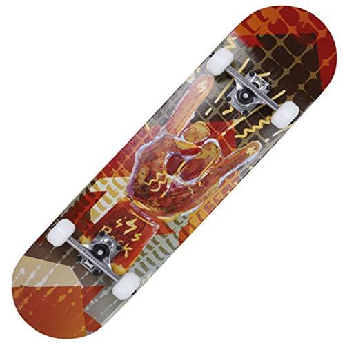 PATINETA Completa Skateboards Los Hijos Adultos De Carreteras De Arce 4 Ruedas Longboard Moto For Principiantes Y Un Entusiasta (Color : S3)