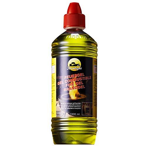 FARMLIGHT Comb 1 L combustibile Bio, per bracieri e caminetti a Gel di bioetanolo 1 Bottiglia da 1 litro, Yellow