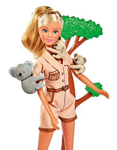 Simba Steffi Love Koala / Puppe kümmert Sich um die Koala- Familie, mit Kletterbaum, Futter und Trinkflasche