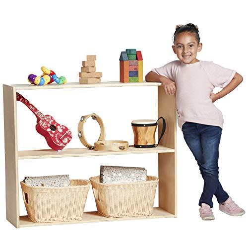 "ECR4Kids Birch Streamline Storage Cabinet - Hardwood Classroom & Home Storage Solution for Kids - 2-Shelf Without Back, 30"" H"