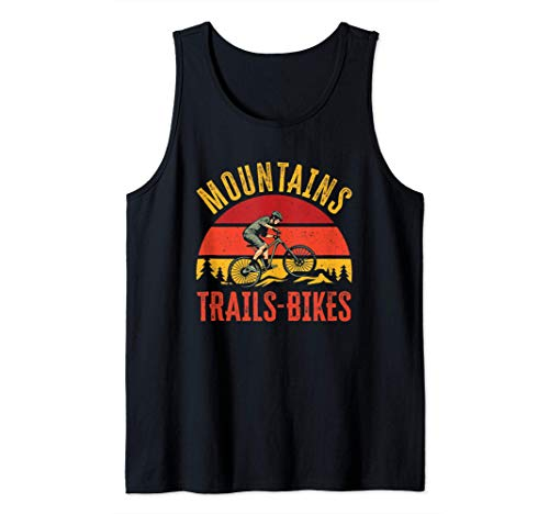 Mountains Trails Bikes | Vintage Downhill Mountain Biking Tank Top