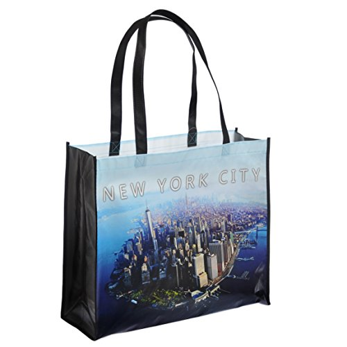 NYC Downtown Photo Reusable Shopping Tote Bag - New York Downtown