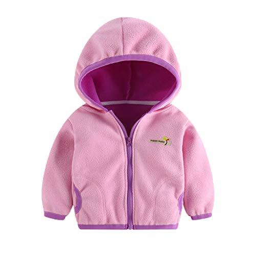 Livoral Kapuzenjacke für Kinder Kleinkind, Baby, Mädchen, Kapuzenbrief, Sweatshirt, Windjacke, Mantel(Rosa,6-7 Jahre)