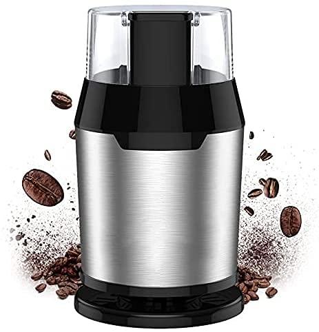 Molinillo Eléctrico de café, Molinillo de Frijoles, 22000rpm Motor Potente, 60dB Bajo Ruido, Capacidad de 50ml, Nueces y Granos con 304 Hojas de Acero Inoxidable, Gratuito Cepillo de Limpieza