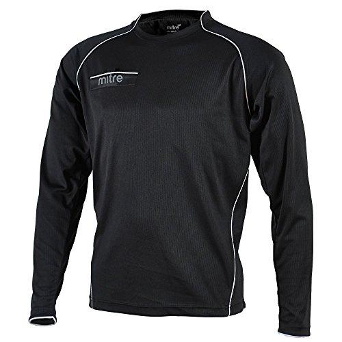 "Mitre Diffract Unisex Adult Referre Shirt - Black/White, M 38""-40"" inch"