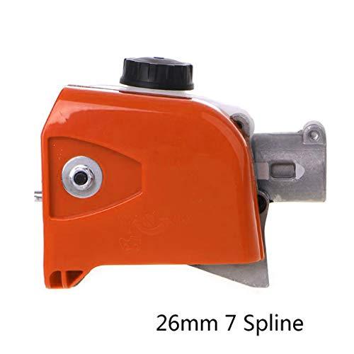 Yintiod Boom kettingzaagaandrijving transmissiekop 26 mm Spline polezaag boomsnijder kettingzaagaandrijving aandrijfkop gereedschap 7/9 Spline 7mm oranje/wit.