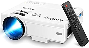 AuKing Mini Projector 2021 Upgraded Portable Video-Projector,55000 Hours Multimedia Home Theater Movie...