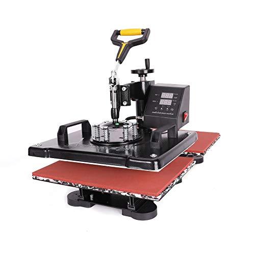 Sfeomi Hitzepresse Heißpresse 1250W Heat Press Machine 38x30cm Transferpresse Tassenpresse Textilpresse Mulitifunktional Sublimation Wärmepresse Maschine 360 Grad Doppelstation T-Shirtpresse