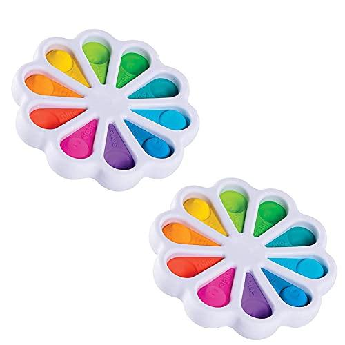 Flower Fidget Toys, más reciente Mejora mejorada Dimple Fidget Toy, Flower Fidget Toys Sensory Simple Dimple Fidget Toy, Silicone Silicone Ergonómico Fidget Juguete Barato Para Niños Adultos,(2pcs)