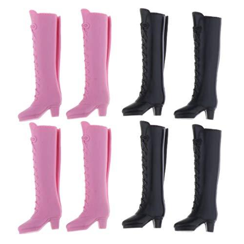 SM SunniMix 4 Pares 1/6 Zapatos de Arranque de Muñecas para Blythe BJD Licca / Momoko / Azone Dress