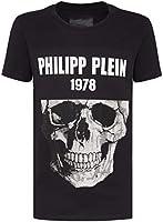 Philipp Plein Herren T-Shirt Round Neck SS Skull Schwarz XX-Large