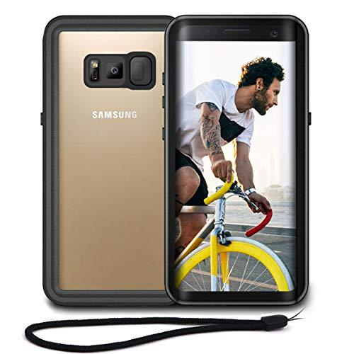 Beeasy Funda Samsung Galaxy S8,Impermeable 360 Grados Protección IP68 Carcasa Antigolpes Rígida Robusta Antigravedad Resistente al Impacto Militar Duradera Blindada Fuerte Seguridad Case Cover,Negro