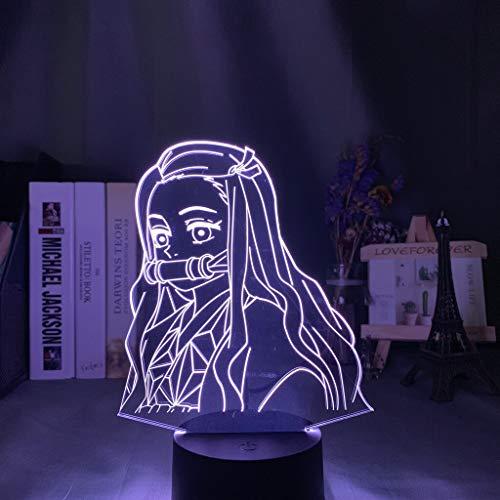 Only 1 Piece Anime Demon Slayer Face Splice Acrylic Led Night Light for Kids Child Bedroom Decor Cool Nightlight Kimetsu No Yaiba Lamp Gift