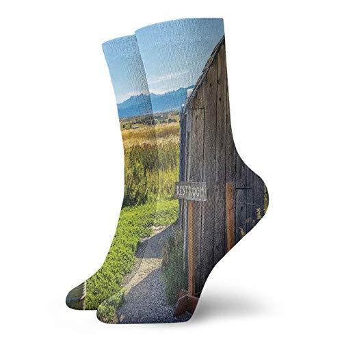 Chaussettes hautes de compression - Abri de jardin en bois idéal pour la course à pied, lathlétisme, la randonnée