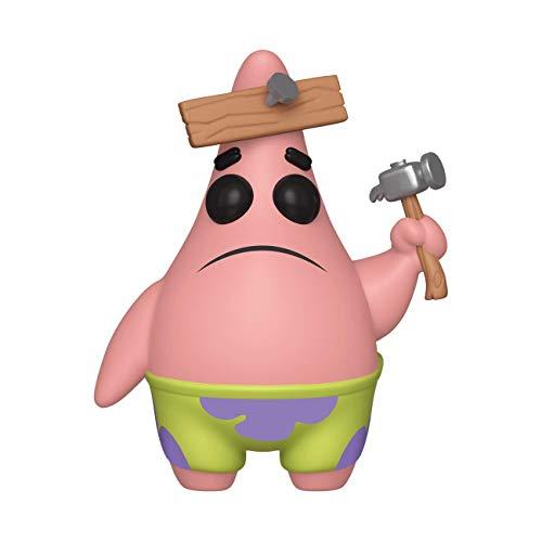 Funko- Pop Vinilo: Spongebob Squarepants S3: Patrick w/Board Figura Coleccionable, Multicolor (39553)