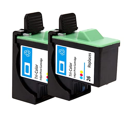 YQDZ Reemplazo De Cartuchos De Tinta Compatibles Adecuado para Lexmark 16 Lexmark 26, para Lexmark Z13 Z33 Z35 Z603 Impresoras De Inyección De Tinta 2*Tri-Color