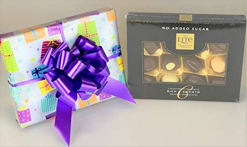 Belgian Lite Chocolates caja sin azúcar añadido envuelto regalo diabético – regalo único para su cumpleaños