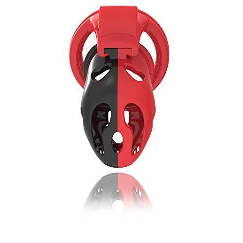 US-DXB Regalo novità maschile in plastica traspirante con gabbia di sicurezza (4 anelli)