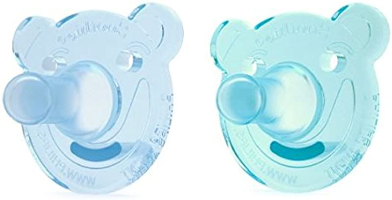 Philips Avent Soothie Pacifier 0 3 Months Green Blue Bear Shape 2 Pack SCF194 01