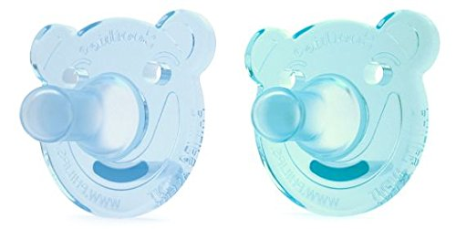 Philips Avent Soothie Pacifier, 0-3 months, Green/Blue, Bear Shape, 2 pack, SCF194/01