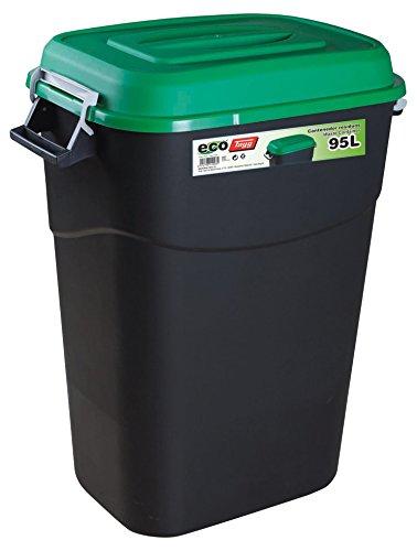 Tayg 410031 Contenedor de residuos Eco 95L VE, Verde